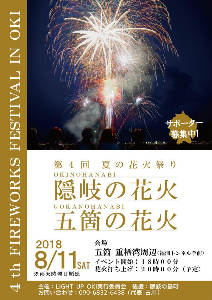 隠岐の島夏の花火祭りポスター